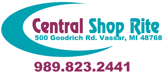 Central Shop-Rite logo and store information